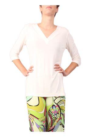 White jersey sweater Capri Chic | 7 | T-SIMPLEBIANCA