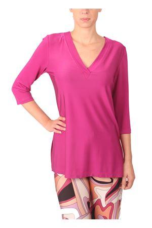 Fuchsia jersey sweater Capri Chic | 7 | T-SIMPLEFUXIA