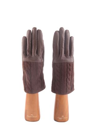 Brown leather and cashmere gloves Capri Gloves | 34 | CA2182FOG