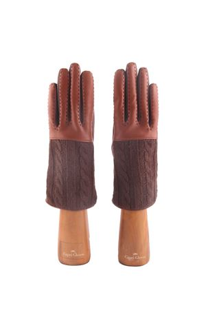 Guanti in pelle e cashmere marroni Capri Gloves | 34 | CA2182LUGGAGE