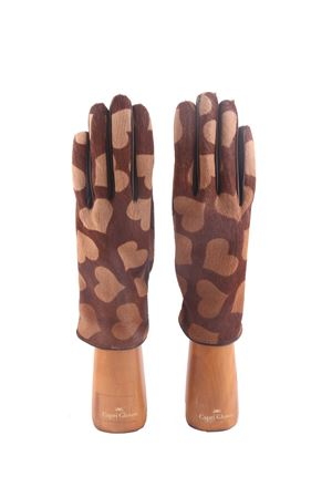 Pony hair and leather hearts gloves Capri Gloves | 34 | CA249BLACK