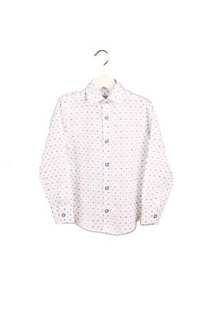 Camicia da bambino in  puro lino con ricamo azzurro e blu Colori Di Capri | 6 | BABY BUBBLESBLU