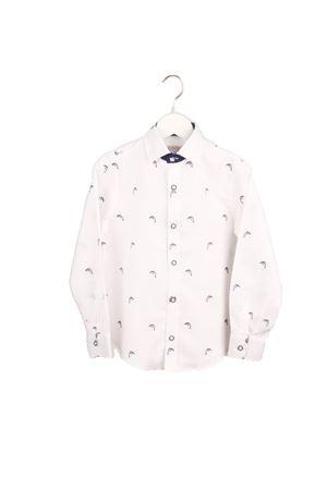 Camicia da bambino in puro lino con ricamo di delfini Colori Di Capri | 6 | BABY DOLPHINBIANCO