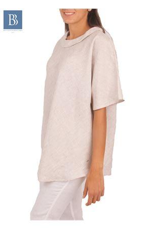 Blusa artigianale in lino Colori Di Capri | 20000031 | BLUSA ANELLOBEIGE