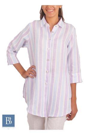 Camicia in lino a righe Colori Di Capri | 6 | CAMICIA COMFORT RIGAVIOLA
