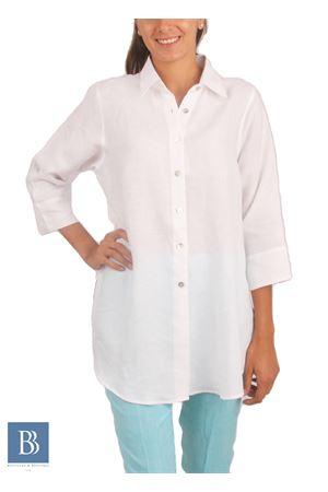 Camicia artigianale da donna in lino Colori Di Capri | 6 | CAMICIA COMFORTBIANCO