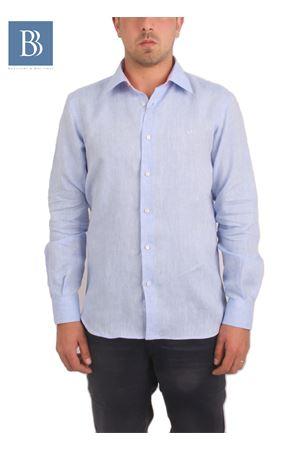 Men linen shirt Colori Di Capri   6   SLIM CELESTECELESTE