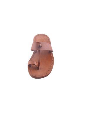 Sandali infradito da bambino in pelle Cuccurullo | 5032256 | BABY DITOMARRONE