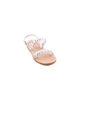 Sandali da bambina in pelle argento Cuccurullo | 5032256 | BABY INTRECCIOARGENTO