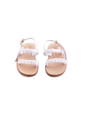 Baby Capri Sandals with woven leather Cuccurullo | 5032256 | BABY INTRECCIOBIANCO
