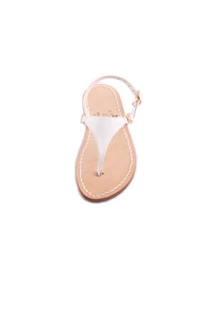 White Capri sandals for baby Cuccurullo | 5032256 | BABY TRIANGOLOBIANCO