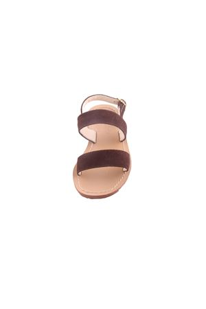 Baby Capri Sandals with double band Cuccurullo | 5032256 | BABYSUEDEMARRONE