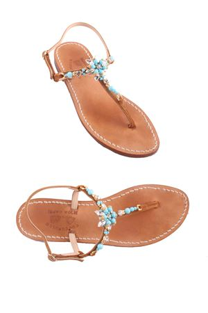 Original light blue Capri sandals Cuccurullo | 5032256 | CUC GRETAAZZURRO