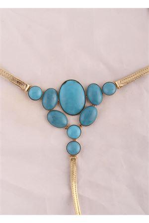 hamdmade Capri sandals with light blue stones Da Costanzo   5032256   2438AZZURRO