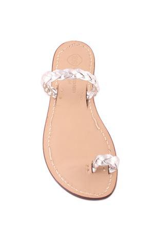 Sandali capresi artigianali con fasce in pelle intrecciata Da Costanzo | 5032256 | ANELLO TRECCIAARGENTO
