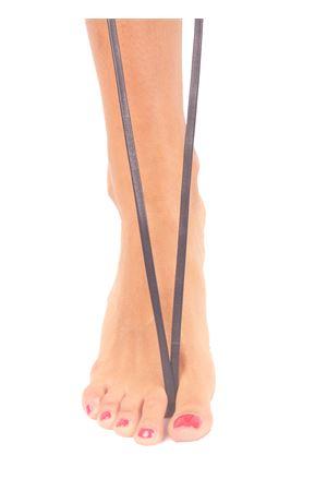 Sandali capresi artigianali con fasce in pelle intrecciata Da Costanzo | 5032256 | ANELLO TRECCIABLU NOTTE