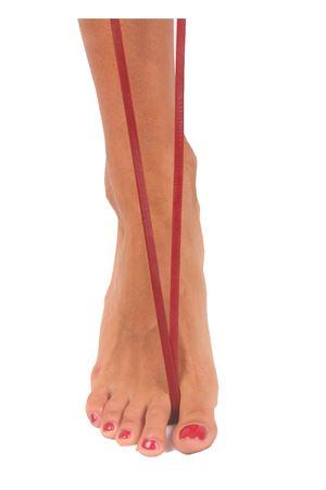 Sandali capresi artigianali con fasce in pelle intrecciata Da Costanzo | 5032256 | ANELLO TRECCIABORDEAUX
