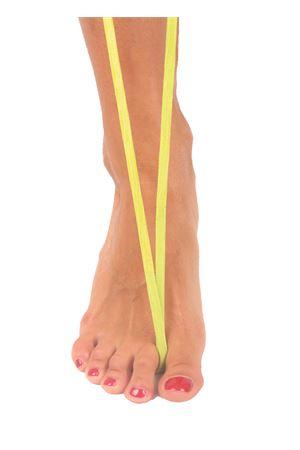 Sandali capresi artigianali con fasce in pelle intrecciata Da Costanzo | 5032256 | ANELLO TRECCIAIGUANA LIME