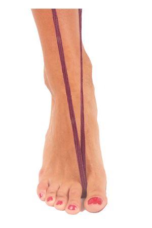 Sandali capresi artigianali con fasce in pelle intrecciata Da Costanzo | 5032256 | ANELLO TRECCIAIGUANA MALVA