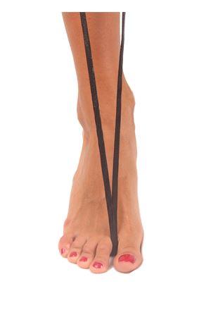 Sandali capresi artigianali con fasce in pelle intrecciata Da Costanzo | 5032256 | ANELLO TRECCIAIGUANA NERO
