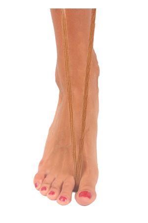 Sandali capresi artigianali con fasce in pelle intrecciata Da Costanzo | 5032256 | ANELLO TRECCIAIGUANA TABACCO