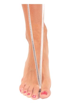 Sandali capresi artigianali con fasce in pelle intrecciata Da Costanzo | 5032256 | ANELLO TRECCIALAMINATO ARGENTO