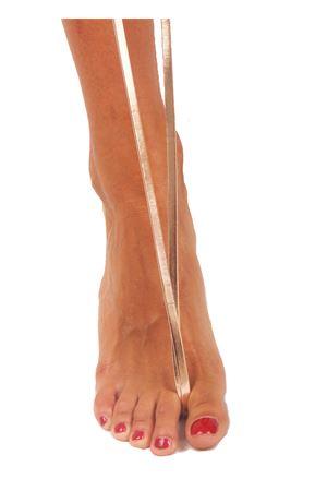 Sandali capresi artigianali con fasce in pelle intrecciata Da Costanzo | 5032256 | ANELLO TRECCIALAMINATO SALMONE