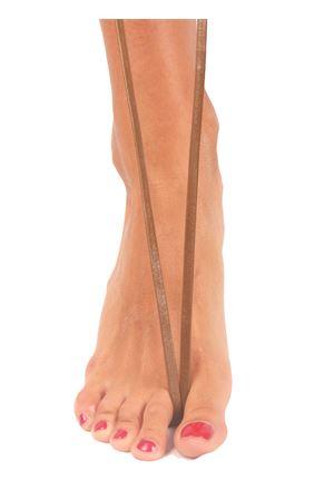 Sandali capresi artigianali con fasce in pelle intrecciata Da Costanzo | 5032256 | ANELLO TRECCIAOLIVA