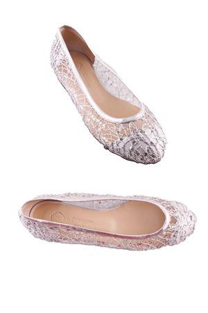 Bridal silver ballerinas Da Costanzo | 5032261 | BALLERINE RETEARGENTO