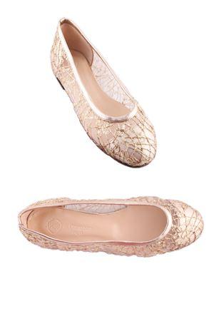 Bridal golden ballerinas Da Costanzo | 5032261 | BALLERINE RETEORO