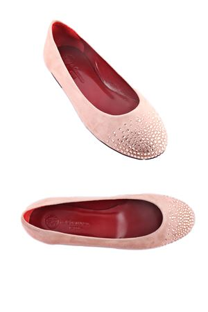 Pink buckskin ballerinas Da Costanzo | 5032261 | BALLERINE STRASSECRU