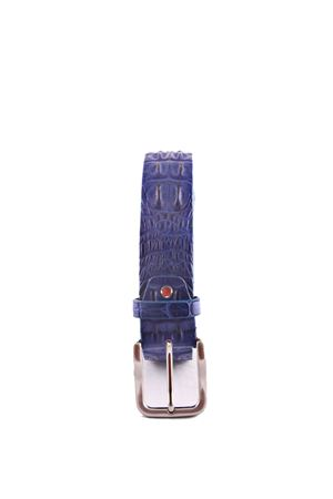 Crocodile blue leather belt Da Costanzo | 22 | CROCODILE BIGBLU