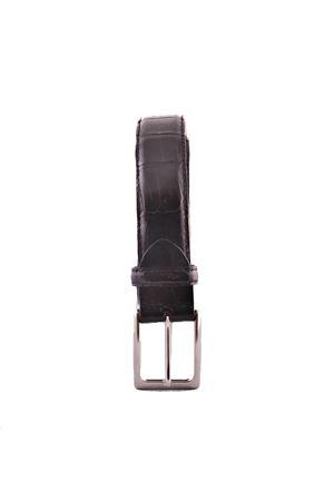 Crocodile black leather belt Da Costanzo | 22 | CROCODILENERO