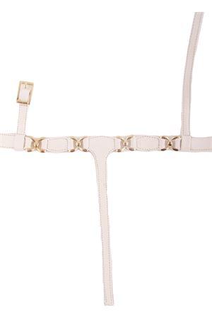 Sandali capresi infradito in pelle bianca con ganci oro Da Costanzo | 5032256 | FARFALLABIANCO