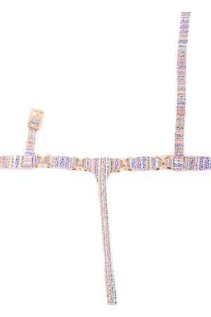 Sandali capresi infradito multicolor con ganci oro Da Costanzo | 5032256 | FARFALLAMULTICOLOR