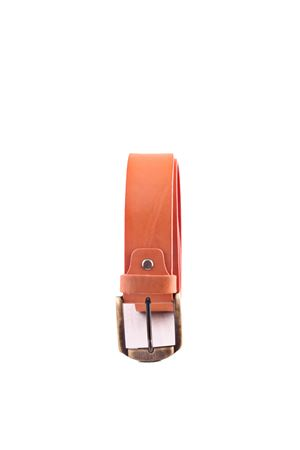 Cintura in pelle arancione Da Costanzo | 22 | FIBIA ASIMMETRICAARANCIO