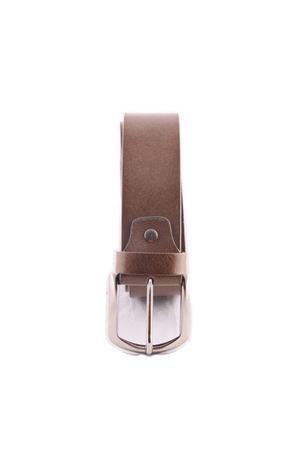 Cintura di pelle grigia Da Costanzo | 22 | FIBIA ASIMMETRICAGRIGIO