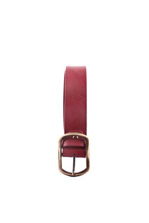 Bordeaux leather belt Da Costanzo | 22 | FIBIA ASIMMETRICAROSA