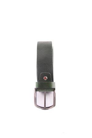 Cintura artigianale in pelle verde Da Costanzo | 22 | FIBIA ASIMMETRICAVERDE