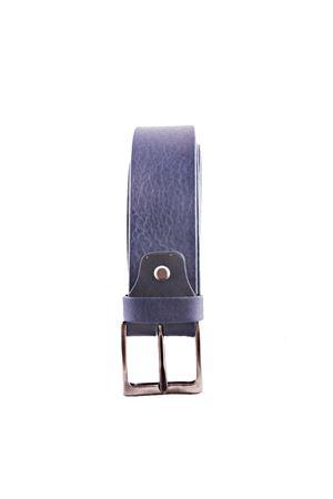 Cintura in pelle azzurra Da Costanzo | 22 | FIBIA QUADRATAAZZURRO