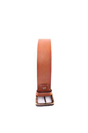 Mustard-colored leather belt Da Costanzo | 22 | FIBIA SCURABEIGE