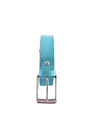 Light blue leather belt Da Costanzo | 22 | FIBIA SOTTILEAZZURRO