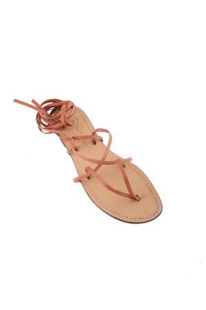 handmade Capri sandals gladiator model Da Costanzo | 5032256 | GLADIATORE CAPRI MARRONEMARRONE