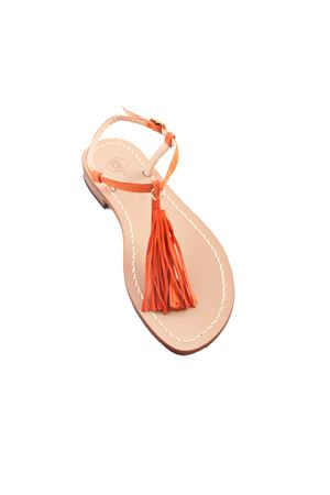 Capri sandals with orange tassels Da Costanzo | 5032256 | NAPPINE CAMARANCIO