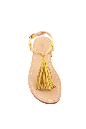 Sandali capresi artigianali con nappine gialle Da Costanzo | 5032256 | NAPPINE CAMGIALLO