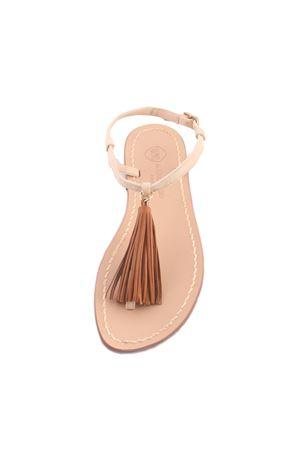 Sandali capresi artigianali marroni Da Costanzo | 5032256 | NAPPINE PELLEMARRONE