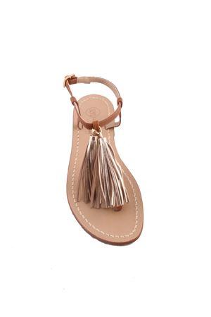 Da Costanzo Capri brown and gold sandals Da Costanzo | 5032256 | NAPPINE2 PELLEORO