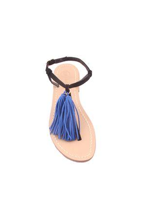 Da Costanzo Capri sandals with blue tassels Da Costanzo | 5032256 | NAPPINE2CAMBLU