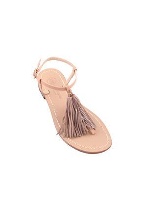 Capri sandals with decorative tassels Da Costanzo | 5032256 | NAPPINE2CAMGRIGIO