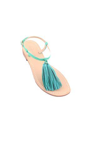 Green Capri sandals with decorative tassels Da Costanzo | 5032256 | NAPPINE2CAMVERDE